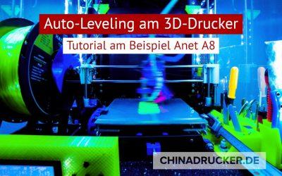 Auto-Leveling für euren 3D Drucker am Beispiel Anet A8, nie wieder Schrauben drehen vor dem Drucken.