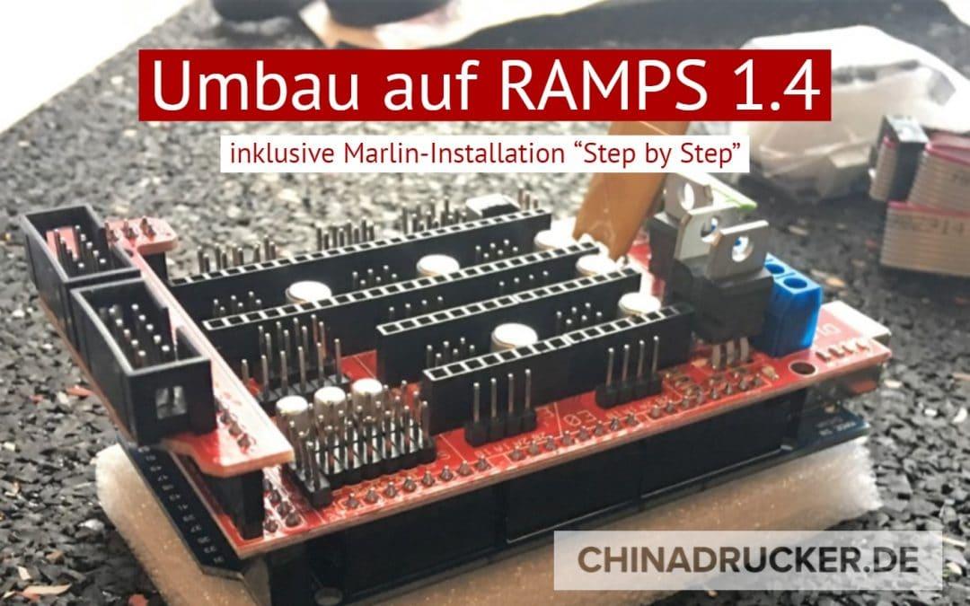 3D Drucker Aufbau / Umbau auf RAMPS 1.4 am Beispiel Anet A8 inkl. Marlin-Installation