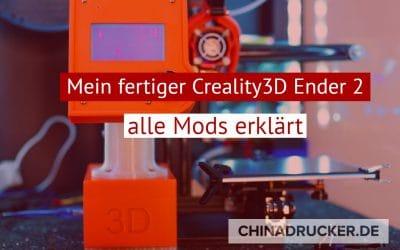 Mein fertiger mobiler Creality 3D Ender 2