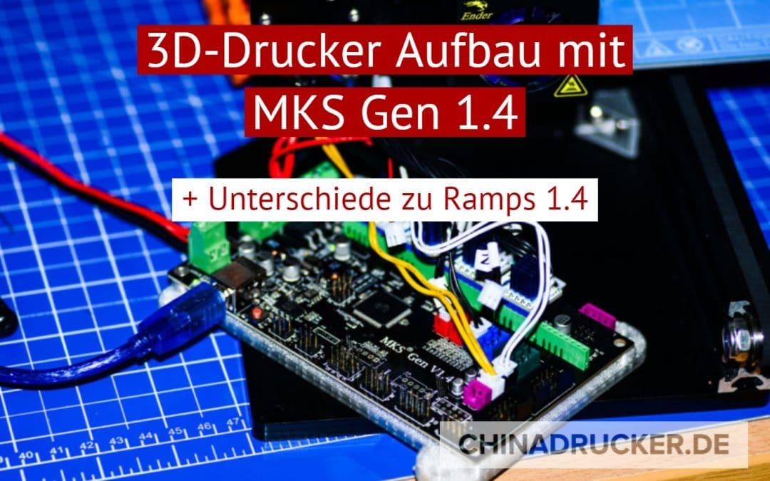 3D Drucker Aufbau mit MKS Gen 1.4 Board