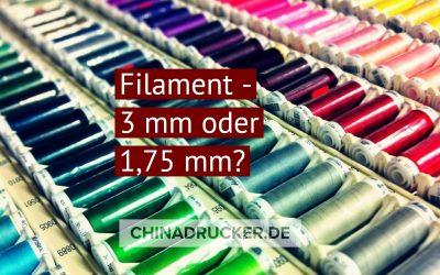 Filament 3mm oder 1,75mm – Der richtige Durchmesser