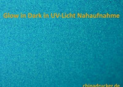Glow in the Dark Nahaufnahme UV-Licht