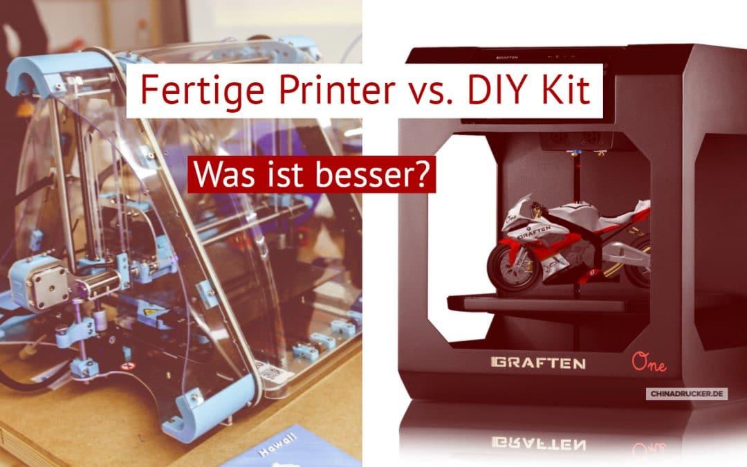 Fertige 3D Drucker vs DIY Kits